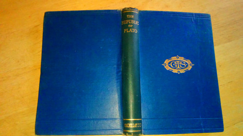 Plato - The Republic ( Translated Llewelyn Davies ) - HB - 1914  - Copy  Signed by Richard J Hayes - WW2 Codebreaker