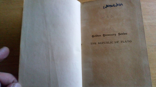 Plato - The Republic ( Translated Llewelyn & Davies ) - HB - 1914  - Copy  Signed by Richard J Hayes - WW2 Codebreaker