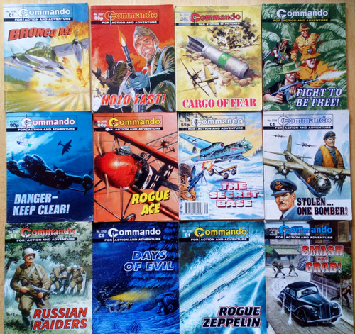 DC Thomson - Commando  Library - Illustrated Comic/Graphic Novel - Lot of 12 Books ( Lot 2)