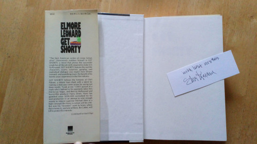 Leonard, Elmore - Get Shorty - HB  US 1st Edition 1990 - & SIGNED card