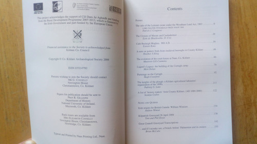 Gillespie, Raymond ( Editor) - Journal of the County Kildare Archaeological Society - 2008-2009 ( Vol XX,  Part 1 ) - PB - Local history
