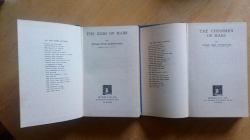 Burroughs, Edgar Rice - The Gods of Mars & The Chessmen of Mars - 2 X Vintage HB SF  - John Carter