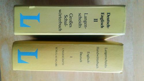 Langenscheidts - Handworterbuch Englisch-Deutsch & Schulworterbuch Deutsch-Englisch - 2 HB  - Dictionary German