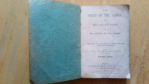 Dalton, J.P ( Editor) - The Spirit of the Nation ( or Ballads and Songs by The Writers of The Nation) 59th Edition , Duffy & Co  PB , 1934