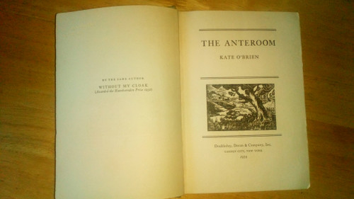 O'Brien, Kate - The Ante Room - HB US 1st Edition 1934