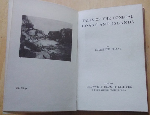 Shane, Elizabeth - Tales of the Donegal Coast and Islands - HB Reprint - Poetry 1927 ( Originally 1921)