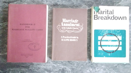 Catholicism - Vintage 3 Book lot -  Marriage Annulment in the Catholic Church ( Ralph Brown) / Marital Breakdown ( Jack Dominian) / Handbook For Marriage Nullity Cases ( J Edward Hudson)