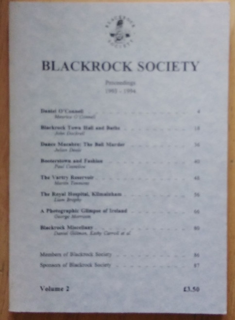 Stafford, John ( Editor) Proceedings of the Blackrock Society ( Dublin) 1994 - Volume 2 - Local History Journal - PB