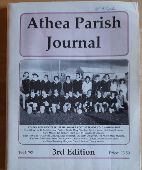 Athea Parish Journal 1991-1992 - ISSUE 3 - Local History Yearbook - West Limerick