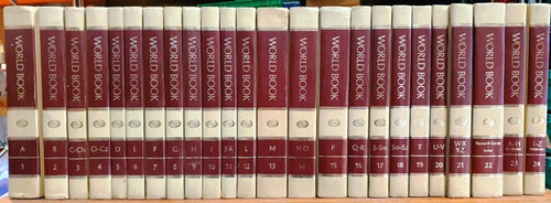 World Book Encyclopedia 1983 (White and Red Spine) (Complete 24 Book Encyclopedia Set)