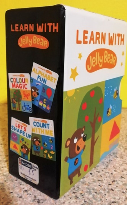 Learn With Jelly Bear (Complete 4 Board Book Box Set)