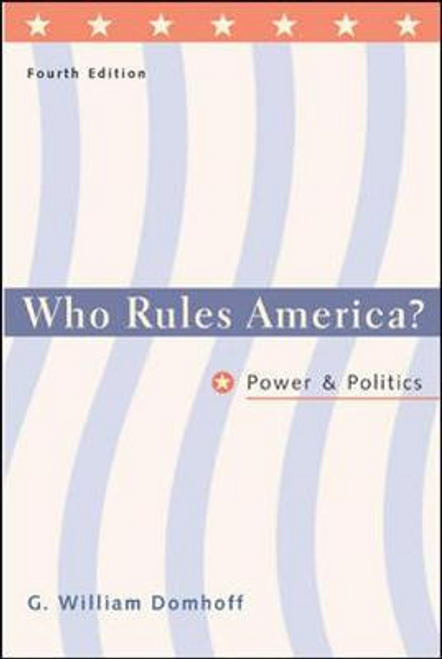 Domhoff, G. William / Who Rules America? (Large Paperback)