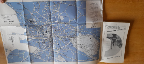 Official Guide to Dublin - Baile Átha Cliath - Vintage Tourist Guide 1950's - Bord Fáilte