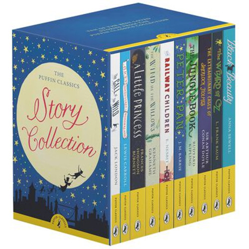 Puffin - Set 10 PB Collection - BRAND NEW - Black Beauty, Wizard of Oz, Call of the Wild, Wind in The Willows, Railway Children , Alice's Adventures in Wonderland, A Little Princess, Peter Pan, Jungle Book, Extraordinary Cases of Sherlock Holmes )