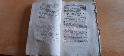 Davalos, Jose Manuel de - Specimen Academicum de Morbis nonullis Limae Grassantibus ipsorumque Therapeia - Montpelier, France, 1787 - Peru - Medical History