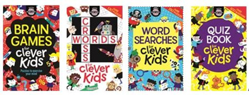 Moore, Gareth - Clever Kids Bundle - 4 Book Set Shrinkwrapped - Brain Games, Quiz Book, Crosswords, Wordsearches - 4 PB SET