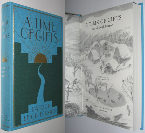 Fermor, Patrick Leigh - A Time of Gifts : On Foot to Constantinople from the Hook of Holland to the Middle Danube - HB SLIPCASED FOLIO SOCIETY ED - 1999, ( Originally 1977 )