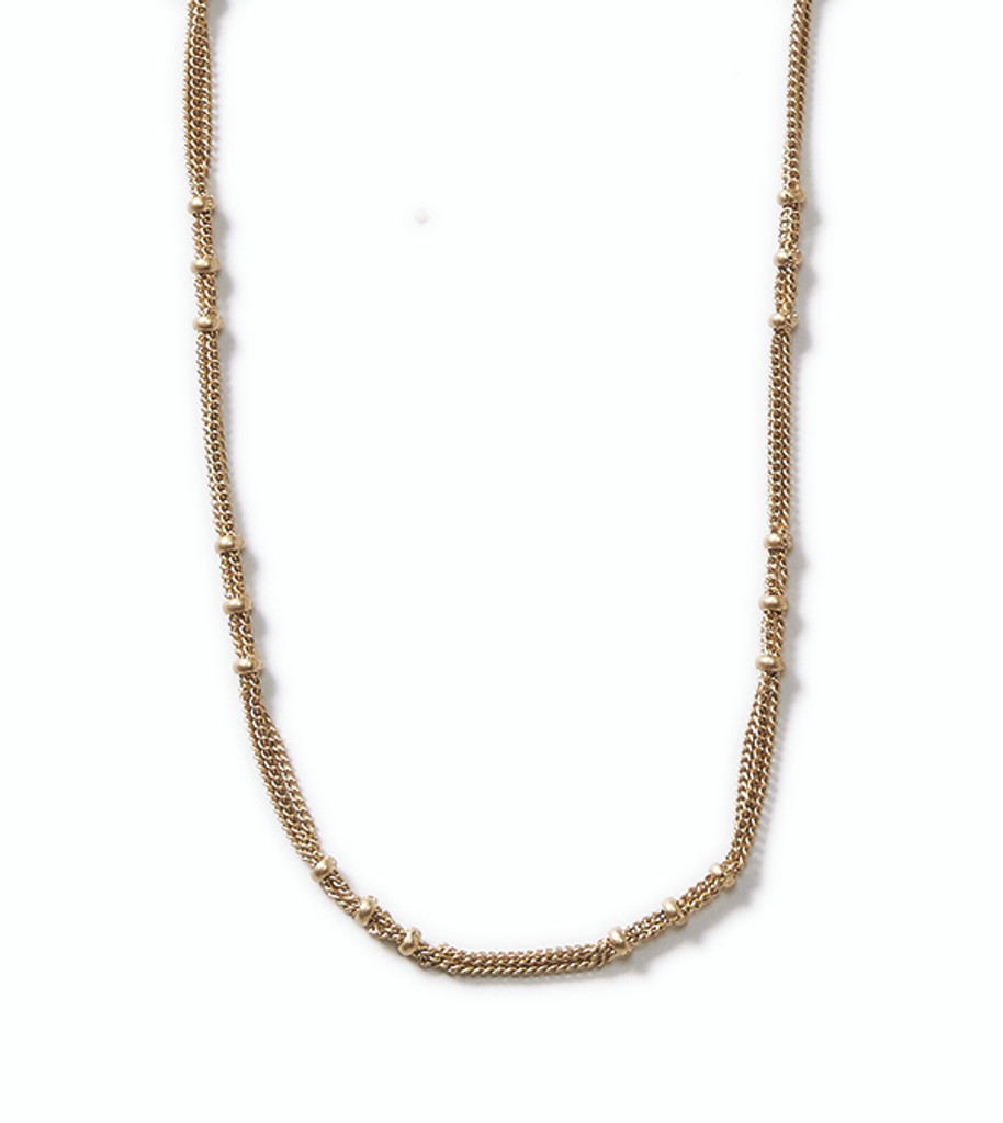 Ribbons Gold Necklace