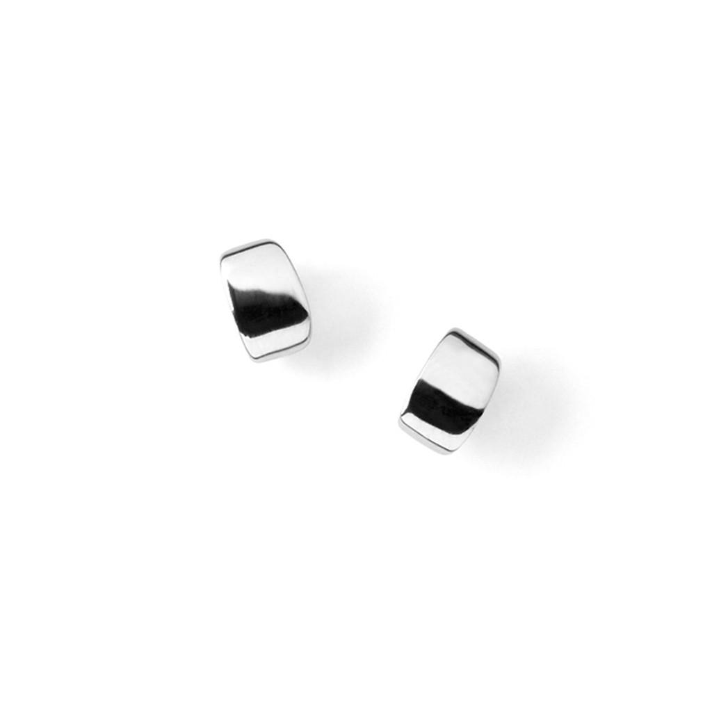 Silver Puff Earrings