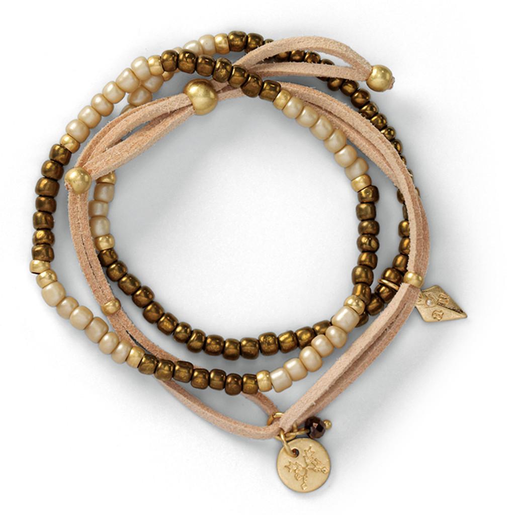 Trifecta Bracelets - Taupe