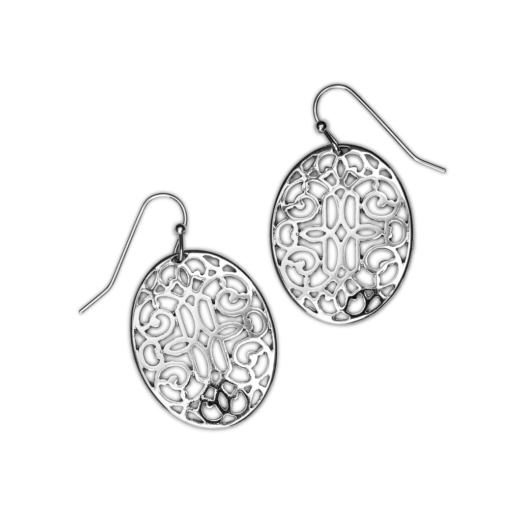 Silver Tapestry Earrings