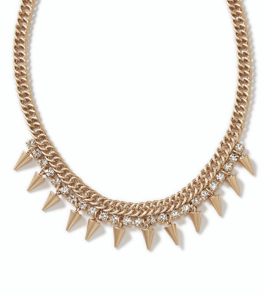 Gilded Spike Necklace