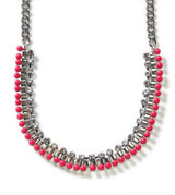 Luminous Dots Raspberry Necklace
