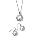 Moon & Back Necklace + Earrings