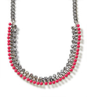 Luminous Dots Raspberry Necklace