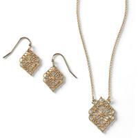 Scroll Earring + Necklace