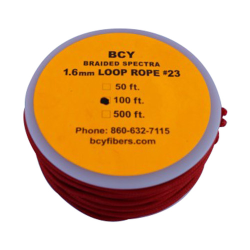 BCY Size 23 Loop Rope Red 100 ft.