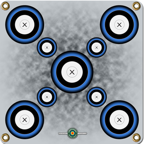 Arrowmat Foam Target Face Blue 9 Spot 17x17 in.