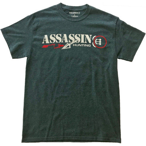 Assassin T-Shirt Bloodtrail Charcoal Large