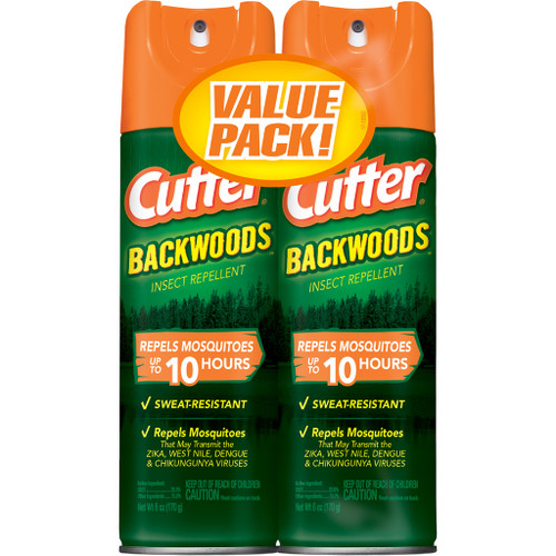 Cutter Backwoods Insect Repellent25% Deet 2 Pk. 6 Oz. Ea.