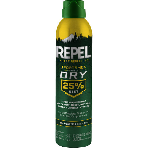 Repel Insect Repellent Sportsmen Dry Formula25% Deet 4 Oz.