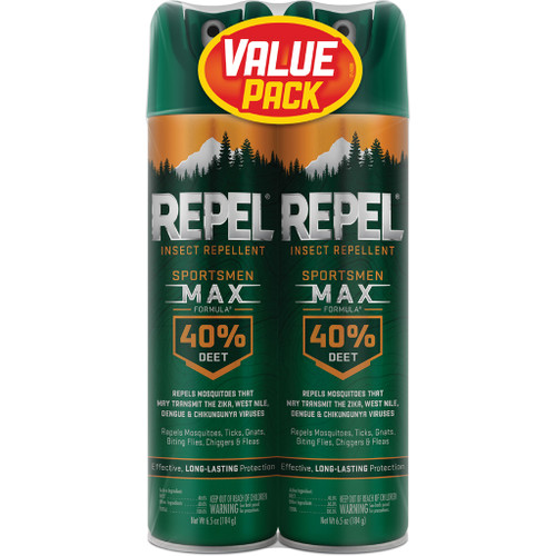 Repel Insect Repellent Sportsmen Max Formula40% Deet 2 Pk. 6.5 Oz. Ea.