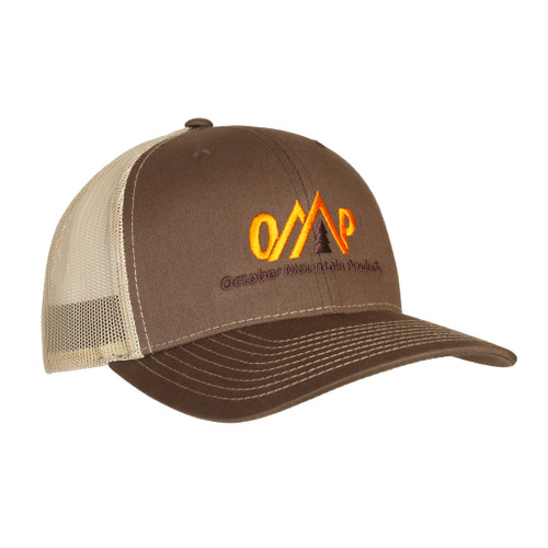 October Mountain Logo Hatbrown/tan