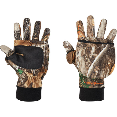 Arctic Shield Tech Finger System Gloves Realtree Edge  Medium
