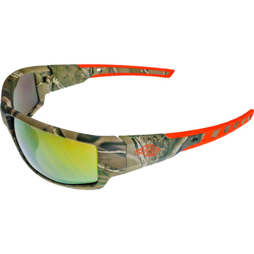 Crossfire Cipher Premium Shooting Glasses Camo/gold Mirror