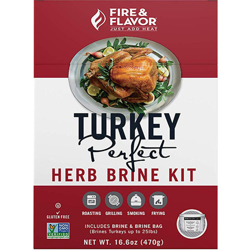 Fire And Flavor Turkey Perfect Brine Kit Herb 2 Pk.