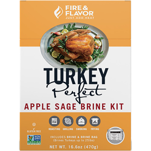 Fire And Flavor Turkey Perfect Brine Kit Apple Sage 2 Pk.