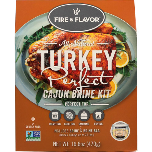 Fire And Flavor Turkey Perfect Brine Kit Cajun 2 Pk.