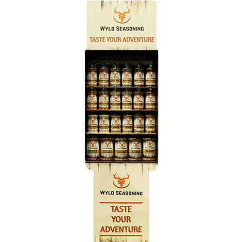 Wyld Seasoning Display With Bottle Assortment