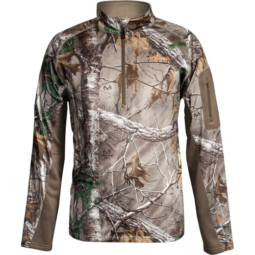 Habit Scent-factor Pullover 1/4 Zip Large Realtree Xtra/cub