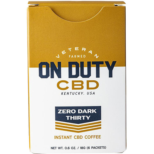 On Duty Cbd Instant Coffee 20 Mg 6 Pk.
