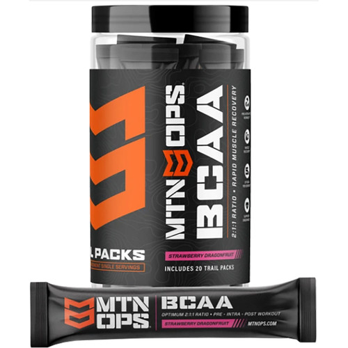 Mtn Ops Bcaa 2:1:1 Strawberry Dragonfruit Trail Pack 20 Ct.