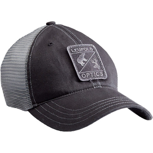 Leupold Optics Soft Trucker Hat Black And Grey