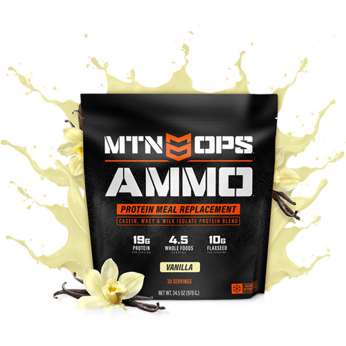 Mtn Ops Ammo Whey Protein Meal Replacement Vanilla