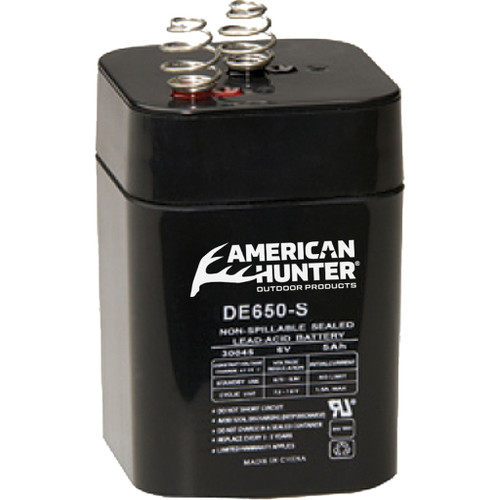 American Hunter Rechargeable Battery 6v Spring Top