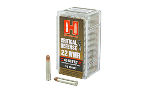 Hornady Critical Defense 22WMR 45 Grain FTX 50 Round Box